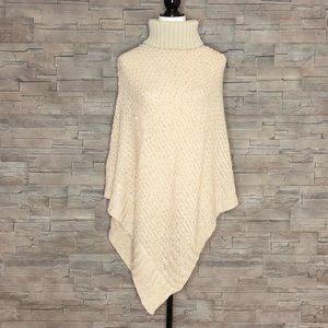 Charlie Paige cream sequinned poncho